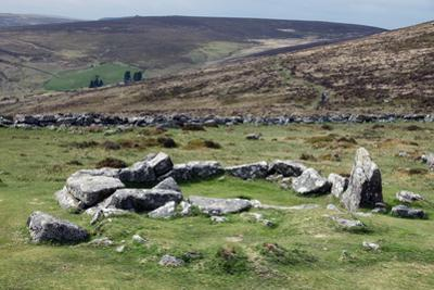 Ruins of Early Bronze Age House, About 3500 Years Old, Grimspound by David Lomax