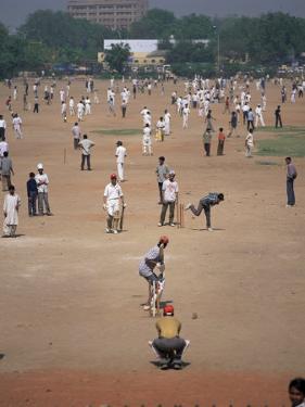 Sunday Cricket, New Delhi, India by David Lomax