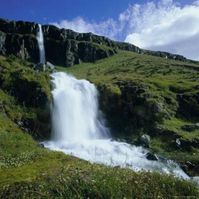 Waterfalls Near Seydisfjordur, East Iceland, Polar Regions by David Lomax