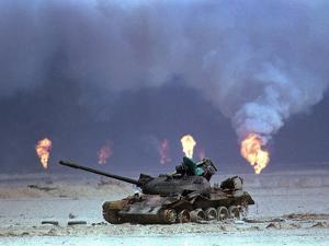 Gulf War Iraqi Tank by David Longstreath
