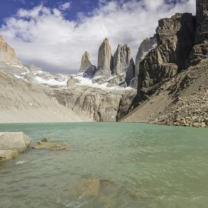 View of Torres Del Paine Peaks from the East. by David Madison