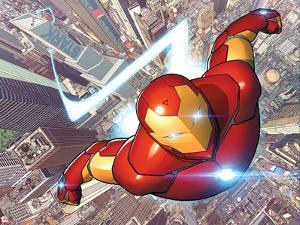 Invincible Iron Man #1 Cover Featuring City, Skyscrapers by David Marquez