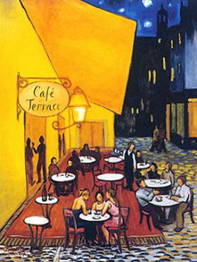 Cafe Terrace by David Marrocco