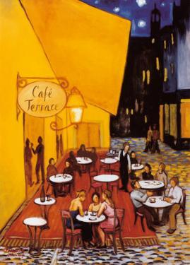 Cafe Terrace by David Marrocco