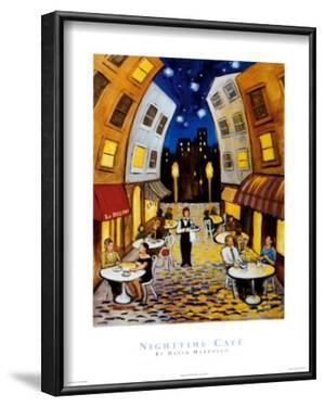 Nighttime Cafe by David Marrocco