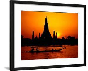 Temple of Dawn in Bangkok, Thailand by David Marshall