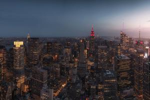 New York at Dusk by David Martin Castan