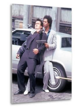 """Actors Philip Michael Thomas and Shooting Scene From Thomas's Television Series """"Miami Vice"""" by David Mcgough"""