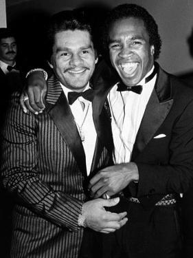 Boxing Greats Roberto Duran and Sugar Ray Leonard at 20th Anniversary of World Boxing Council by David Mcgough