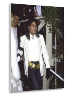 Michael Jackson Attending the Academy Awards by David Mcgough