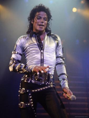 Pop Entertainer Michael Jackson Singing at Event by David Mcgough