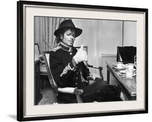 Pop Star Michael Jackson in His Hotel Room Prior to Party for Him at the Museum of Natural History by David Mcgough