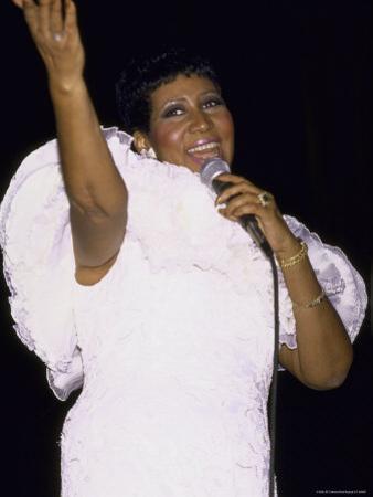 Singer Aretha Franklin Performing