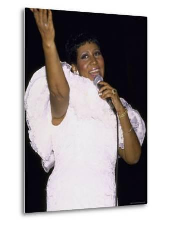 Singer Aretha Franklin Performing by David Mcgough