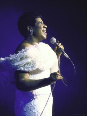Singer Aretha Franklin Performing by David Mcgough