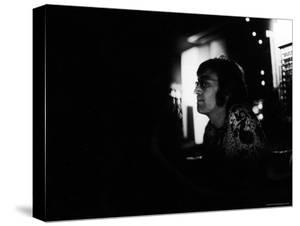 """Singer John Lennon Working on His Album """"Mind Games"""" at the Record Plant by David Mcgough"""