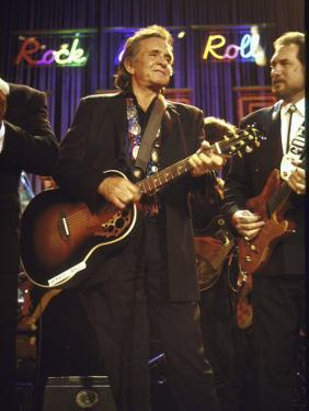 Singer Johnny Cash Performing by David Mcgough