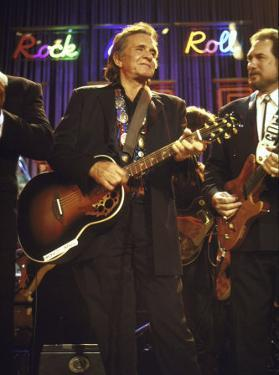 Singer Johnny Cash Performing by David Mcgough