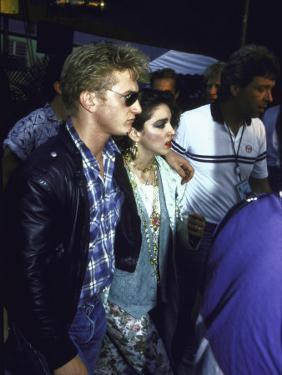 Singer Madonna and Husband, Actor Sean Penn by David Mcgough