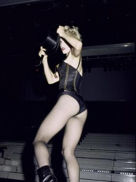 Singer Madonna Performing by David Mcgough