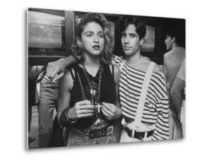 "Singer Madonna with D.J. Jellybean Benitez at Opening of Video Club ""Private Eyes by David Mcgough"
