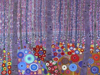 Klimt's Forest, 2010 by David Newton