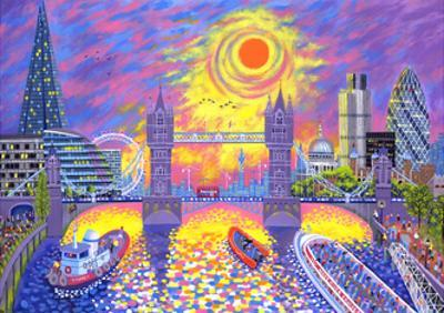 Sunset: Pool of London, 2013 by David Newton