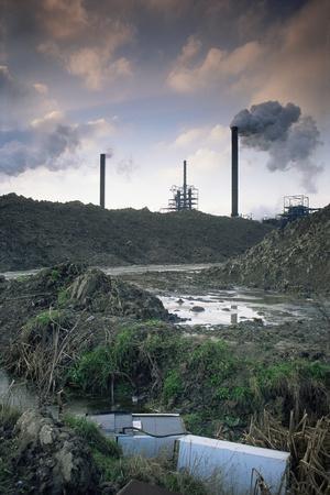 Pollution - Industrial Wasteland Avonmouth Near Bristol, UK