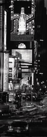 Seventh Avenue and Times Square at Night, New York