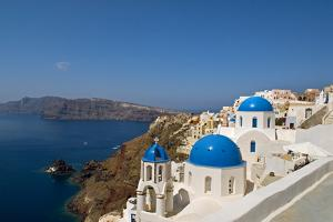 Oia on the Island of Santorini, Greece by David Noyes
