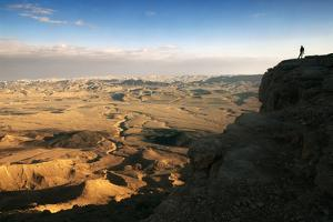 Ramon Crater Viewed from Mitzpe Ramon Visitors Center, Negev Desert, Israel by David Noyes