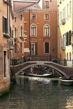 Small Bridge over a Side Canal in Venice, Italy by David Noyes