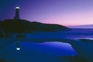 Dusk View of Lighthouse, Nova Scotia by David Nunuk