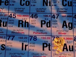 Nuggets of Gold on Periodic Table by David Nunuk