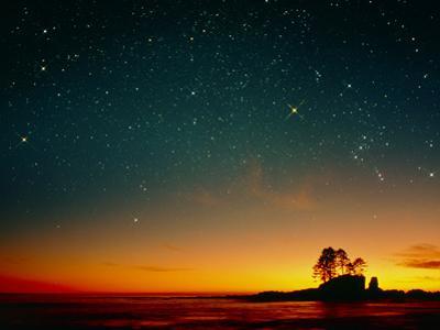 Orange Sunset with Orion, Gemini & Cancer