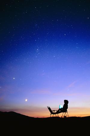 Starry Sky And Stargazer