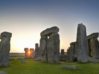Stonehenge at Sunrise Near the Time of the Summer Solstice, Salisbury Plain, England