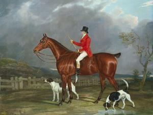 A Huntsman and Hounds, 1824 by David of York Dalby