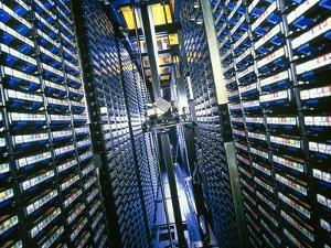 Computer Tape Storage Robot by David Parker