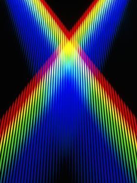 Crossing Spectra of Coloured Light by David Parker