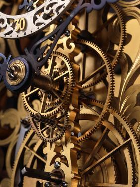 Internal Gears Within a Clock by David Parker