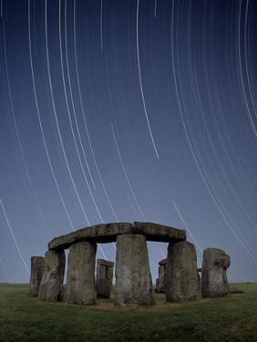 Star Trails Over Stonehenge by David Parker