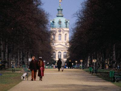 Tree Lined Path to Charlottenburg Palace's Central Domed Tower, Circa 1812
