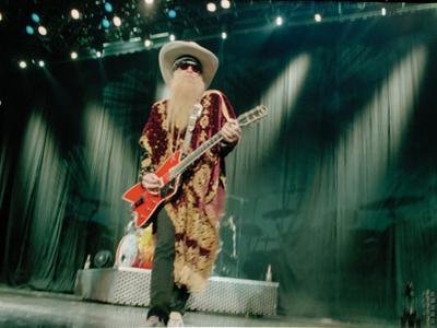 Billy F. Gibbons Live Performance Playing a Custom Gretsch by David Perry