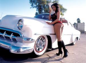 Pin-Up Girl: 1951 Chevy Chop Top by David Perry