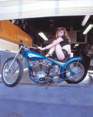 Pin-Up Girl: Blue Chopper by David Perry
