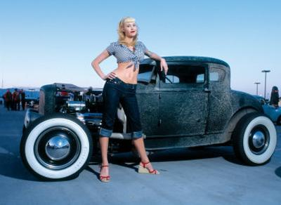 Pin-Up Girl: Deuce Coupe Rock a Billy by David Perry