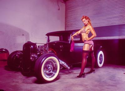 Pin-Up Girl: Flat Head Rat Rod by David Perry