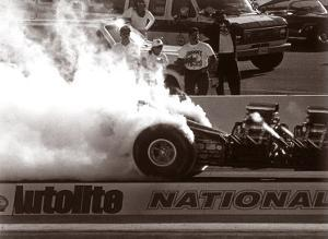 Top Fuel Dragster Burnout by David Perry