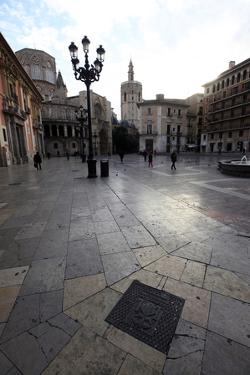 A Square in Central Valencia, Valencia, Spain, Europe by David Pickford